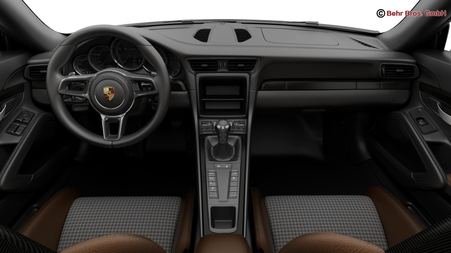 porsche 911 r 2017 3d model 3ds max fbx c4d lwo ma mb obj 220012