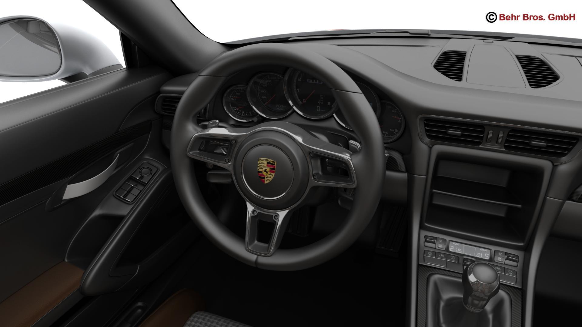 porsche 911 r 2017 3d model 3ds max fbx c4d lwo ma mb obj 220013
