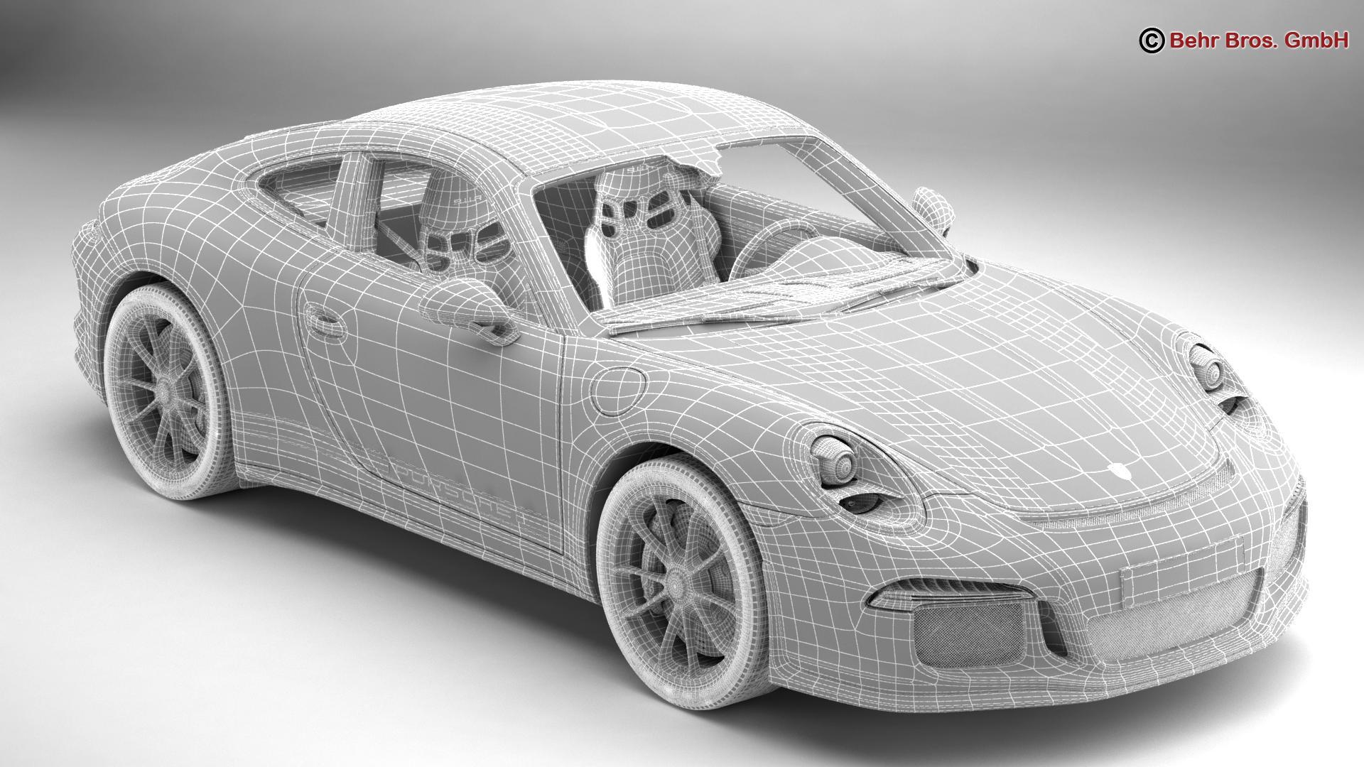 porsche 911 r 2017 3d model 3ds max fbx c4d lwo ma mb obj 220014