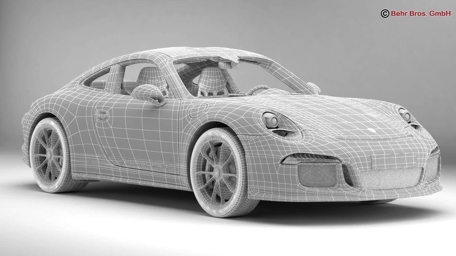 porsche 911 r 2017 3d model 3ds max fbx c4d lwo ma mb obj 220015