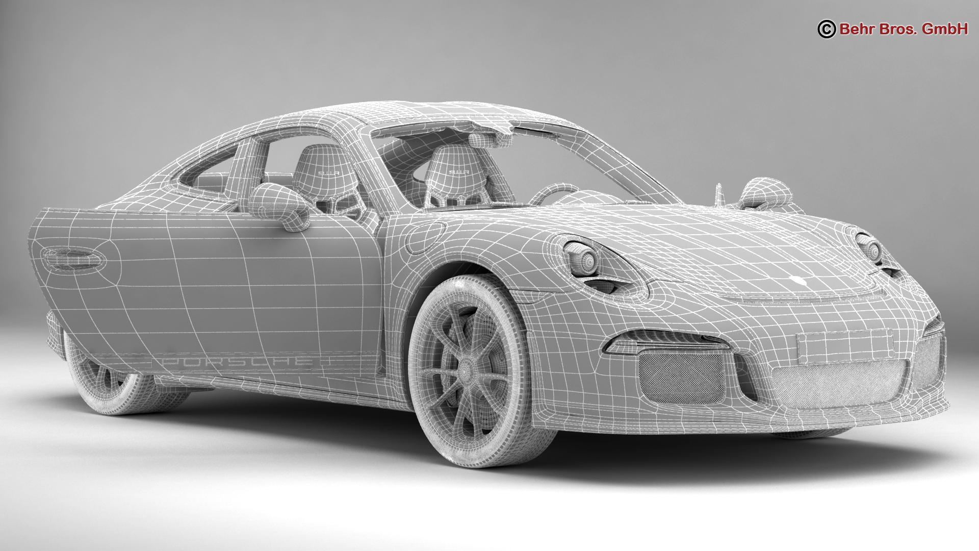 porsche 911 r 2017 3d model 3ds max fbx c4d lwo ma mb obj 220016