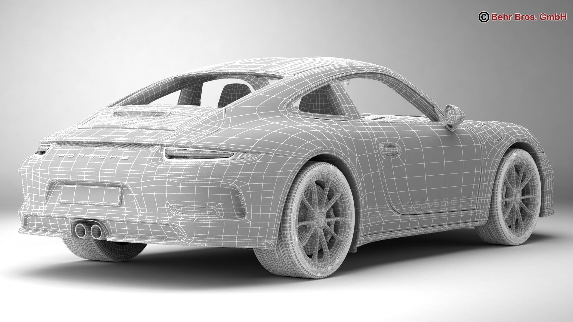 porsche 911 r 2017 3d model 3ds max fbx c4d lwo ma mb obj 220017