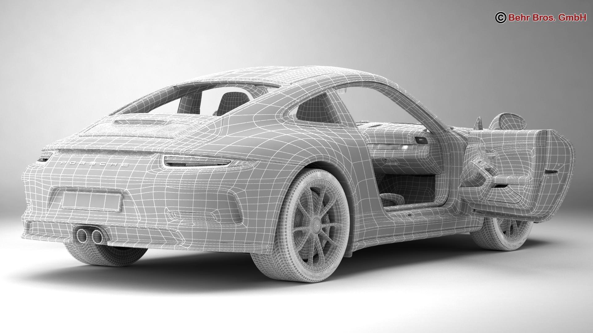 porsche 911 r 2017 3d model 3ds max fbx c4d lwo ma mb obj 220018