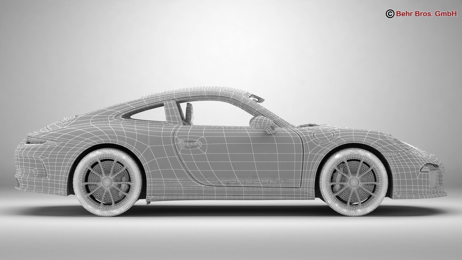porsche 911 r 2017 3d model 3ds max fbx c4d lwo ma mb obj 220019