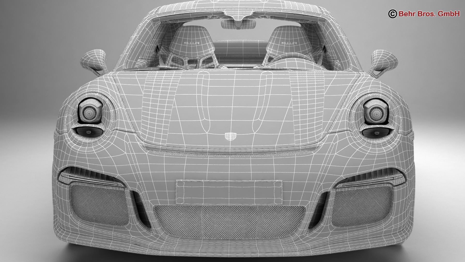 porsche 911 r 2017 3d model 3ds max fbx c4d lwo ma mb obj 220020