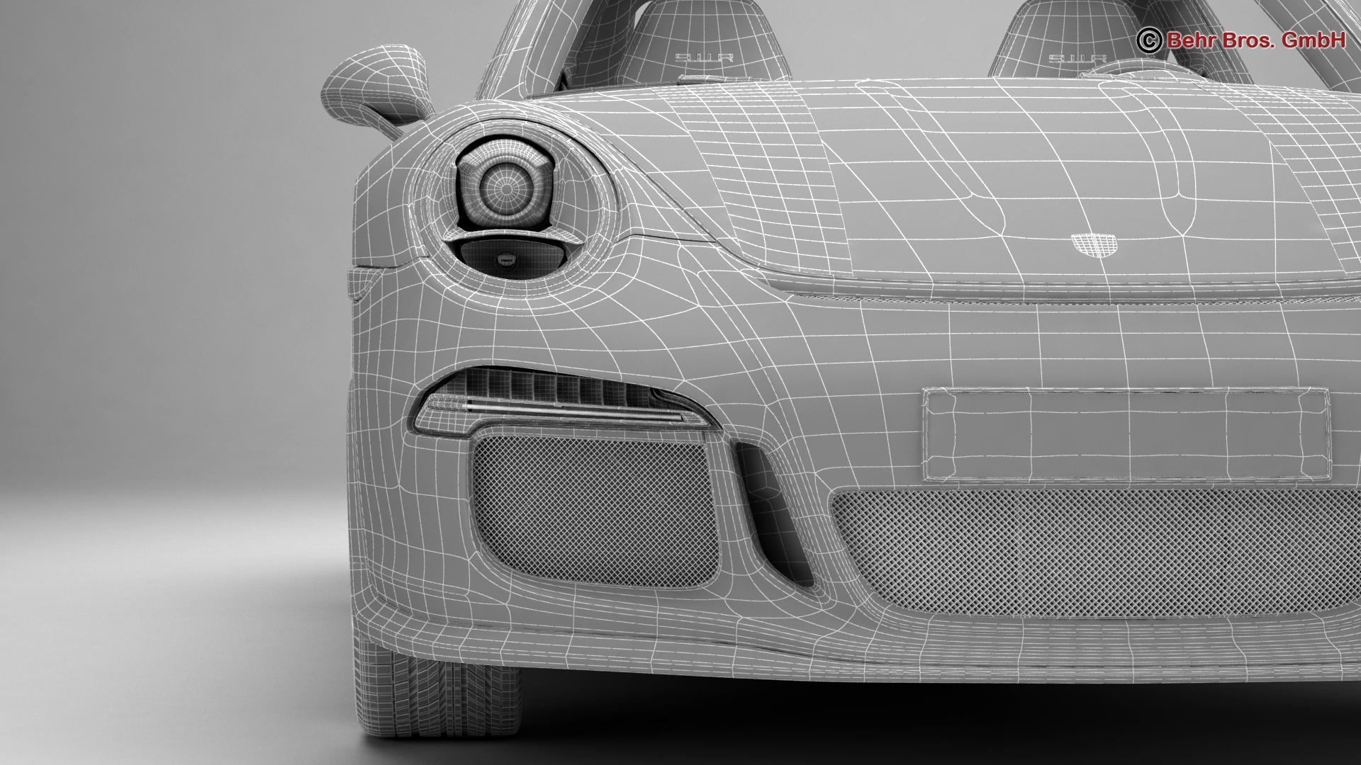 porsche 911 r 2017 3d model 3ds max fbx c4d lwo ma mb obj 220021