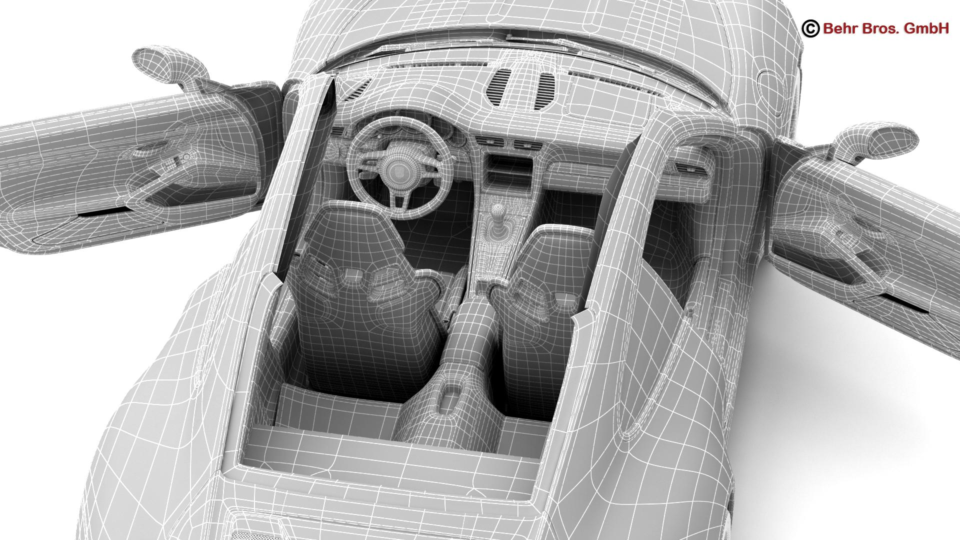 porsche 911 r 2017 3d model 3ds max fbx c4d lwo ma mb obj 220026