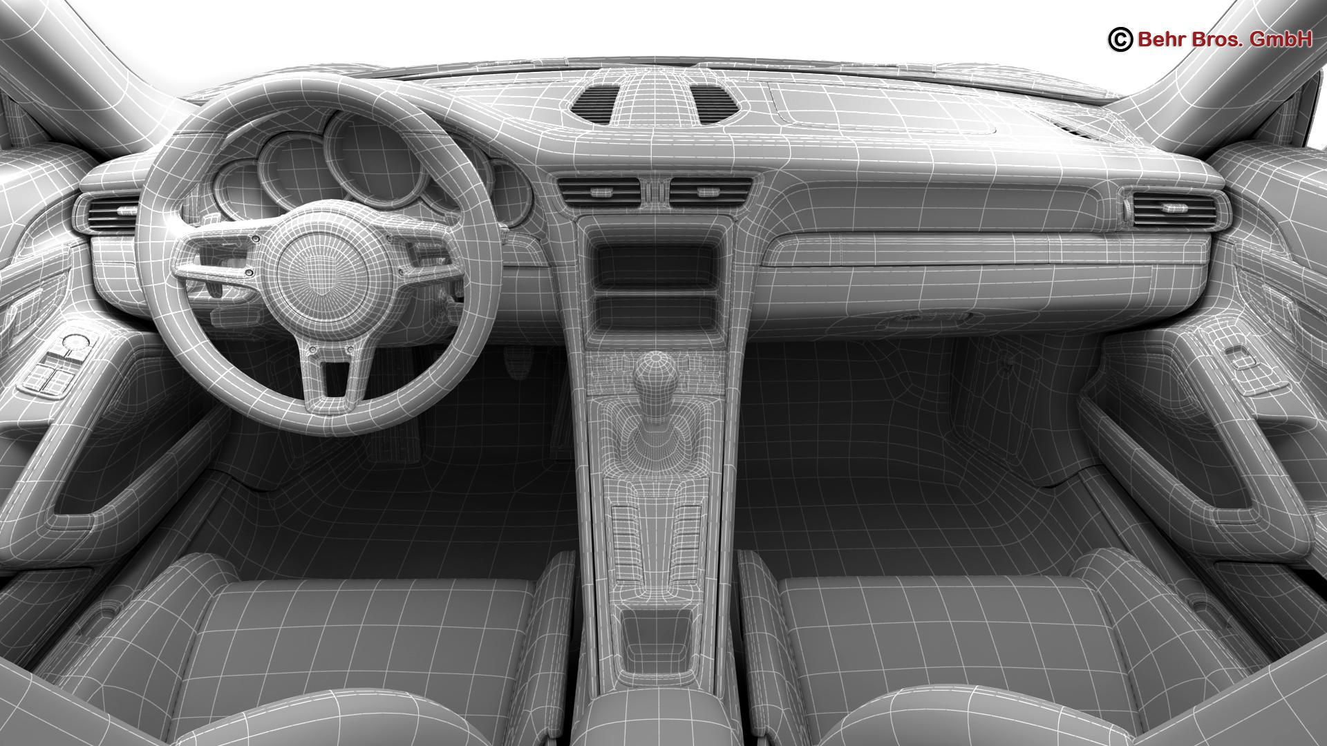 porsche 911 r 2017 3d model 3ds max fbx c4d lwo ma mb obj 220027