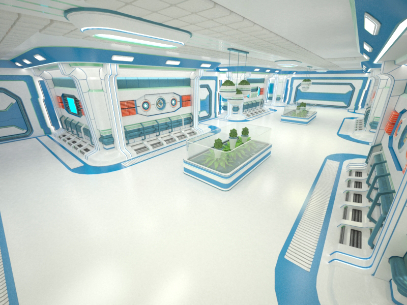 sci-fi interior 3d model 3ds max fbx obj 220050