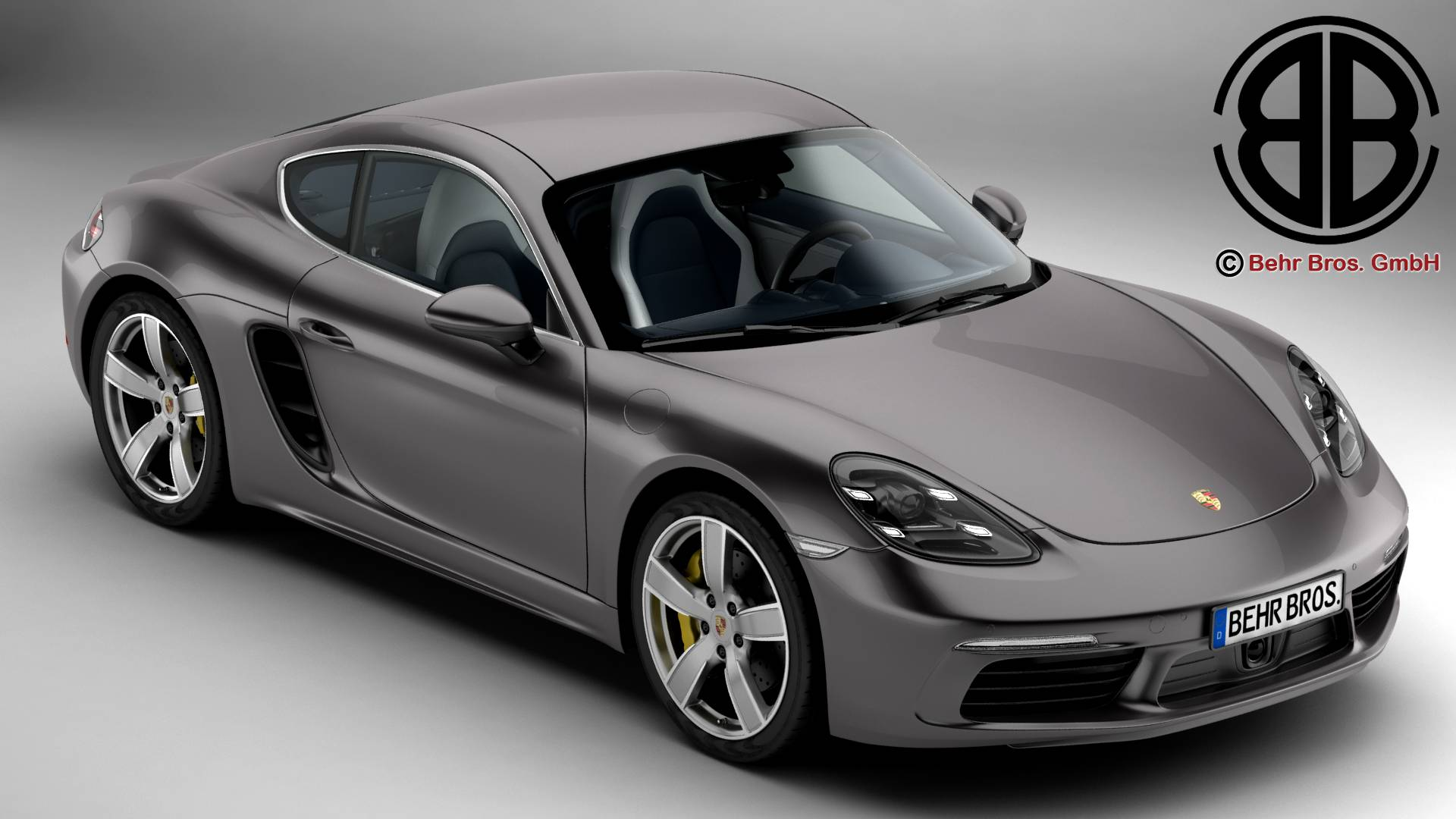porsche 718 cayman 2017 3d model 3ds max fbx c4d le do thoil 220070