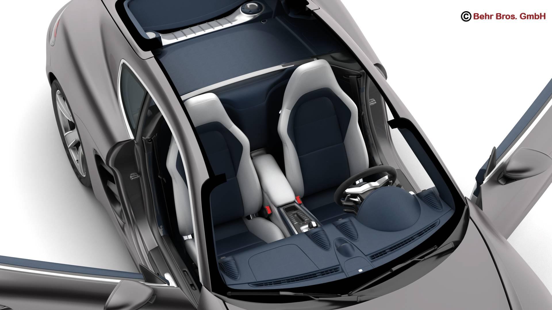 porsche 718 cayman 2017 3d model 3ds max fbx c4d lwo ma mb obj 220081
