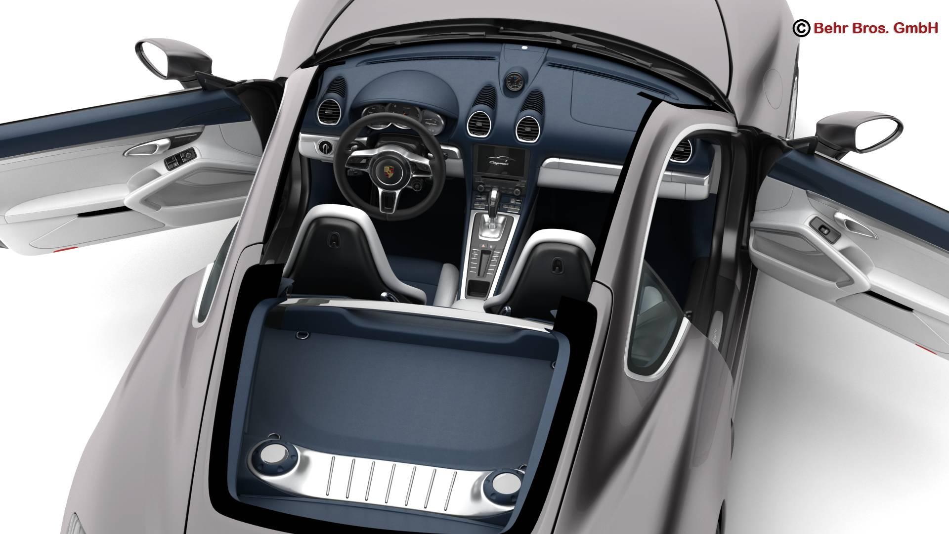 porsche 718 cayman 2017 3d model 3ds max fbx c4d lwo ma mb obj 220082