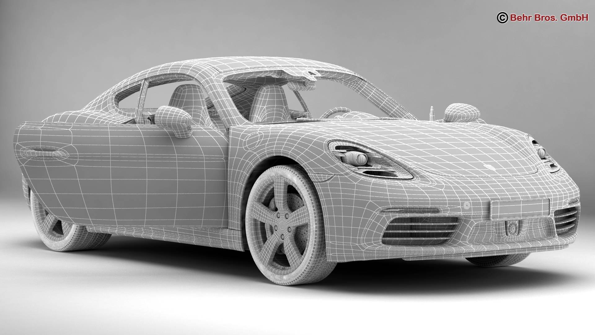 porsche 718 cayman 2017 3d model 3ds max fbx c4d lwo ma mb obj 220087