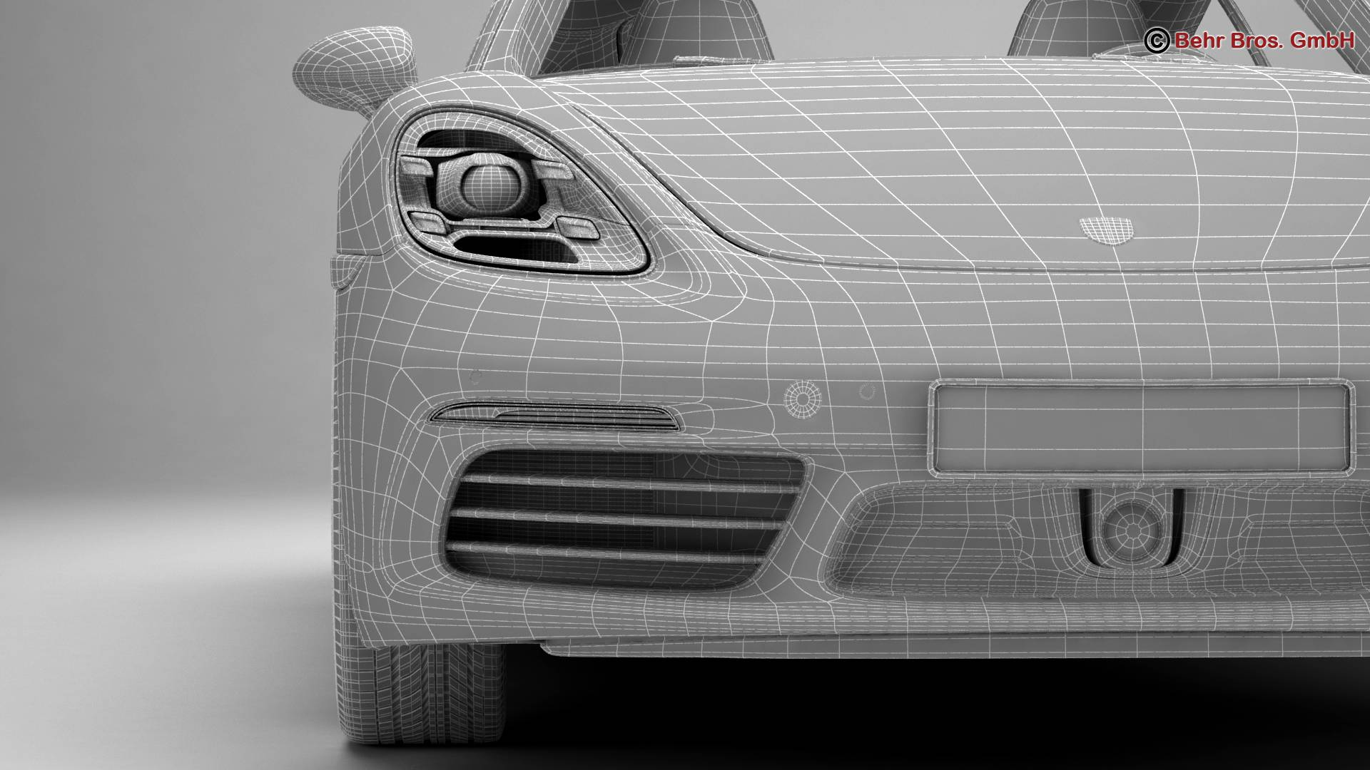 porsche 718 cayman 2017 3d model 3ds max fbx c4d lwo ma mb obj 220092