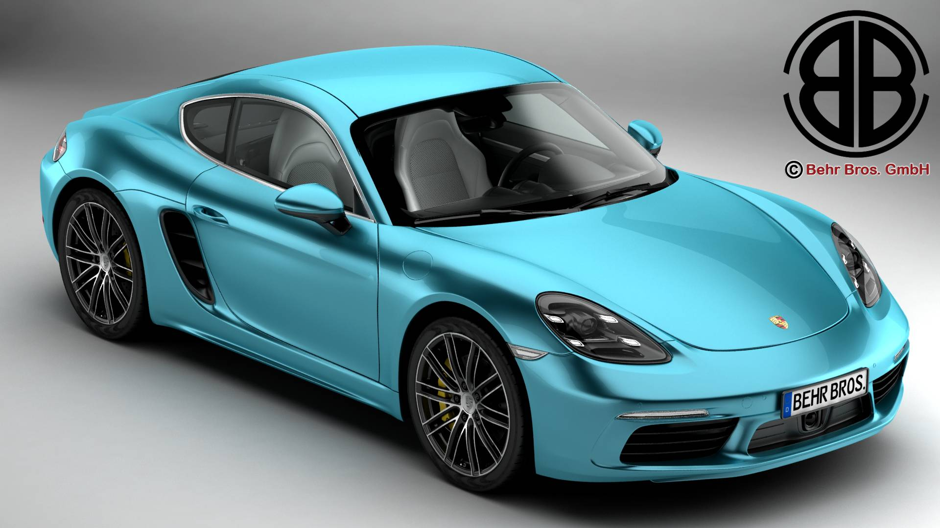 porsche 718 cayman s 2017 3d model 3ds max fbx c4d le do thoil 220102