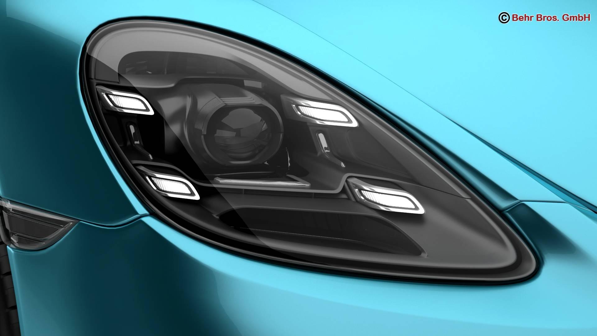 porsche 718 cayman s 2017 3d model 3ds max fbx c4d lwo ma mb obj 220111