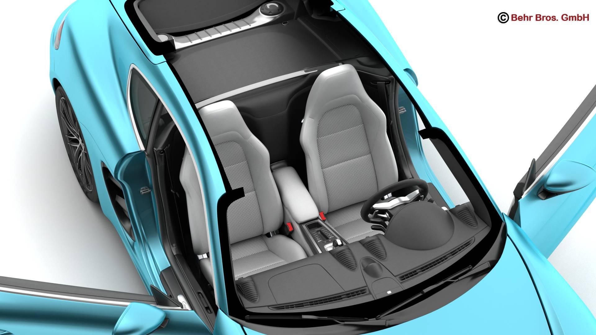 porsche 718 cayman s 2017 3d model 3ds max fbx c4d lwo ma mb obj 220113