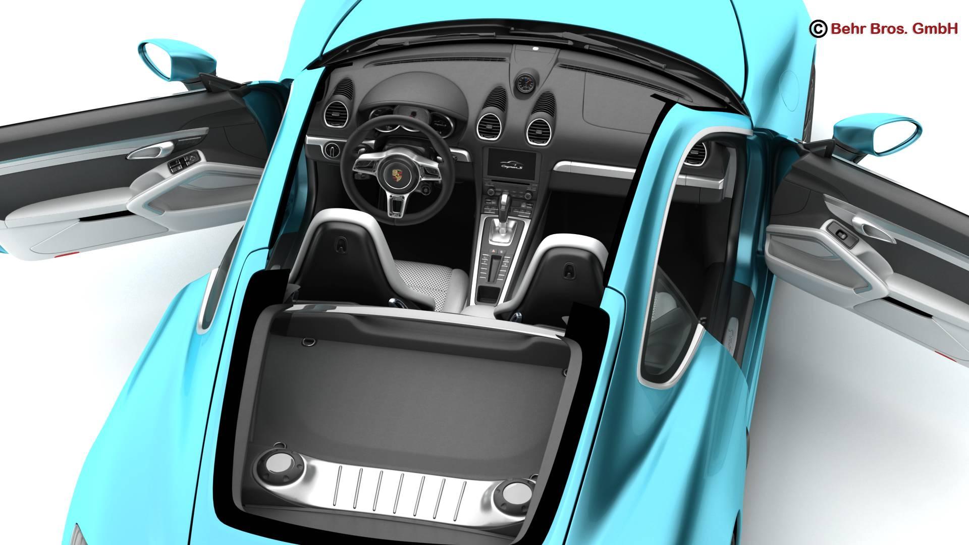 porsche 718 cayman s 2017 3d model 3ds max fbx c4d lwo ma mb obj 220114