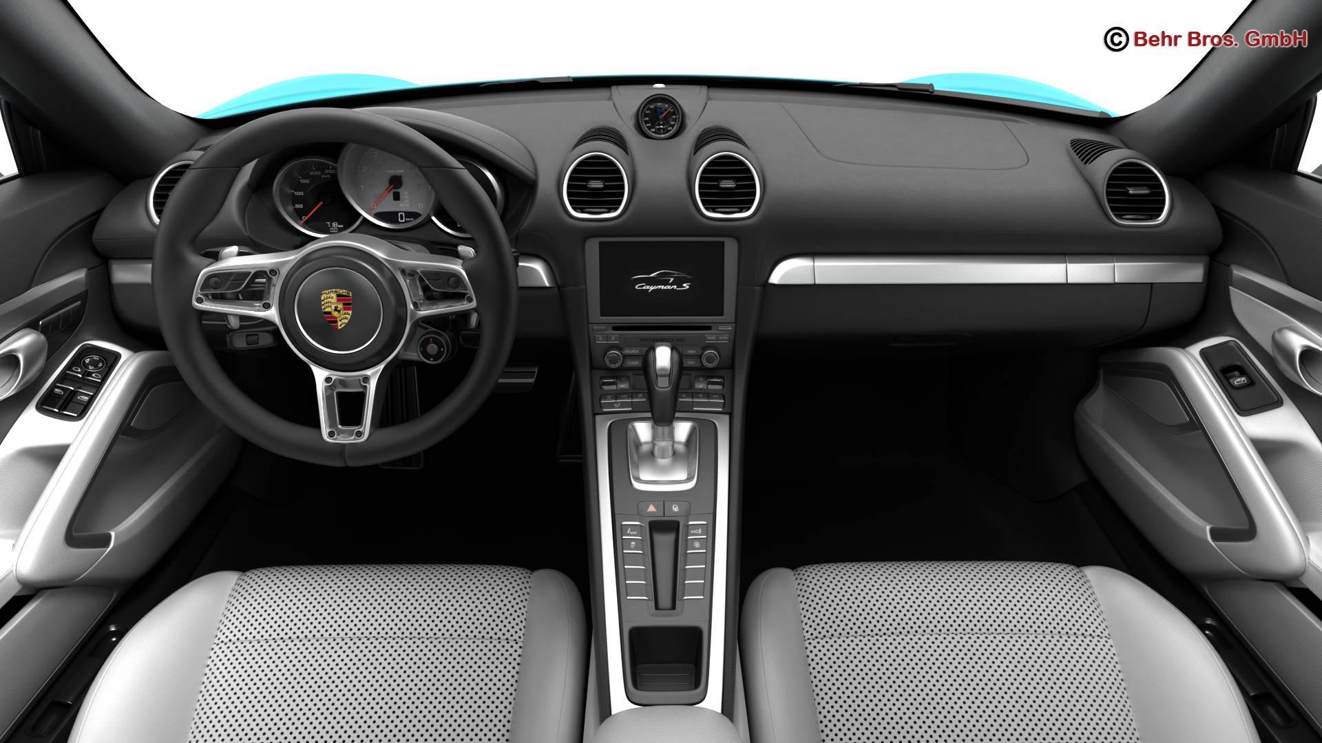 porsche 718 cayman s 2017 3d model 3ds max fbx c4d lwo ma mb obj 220115