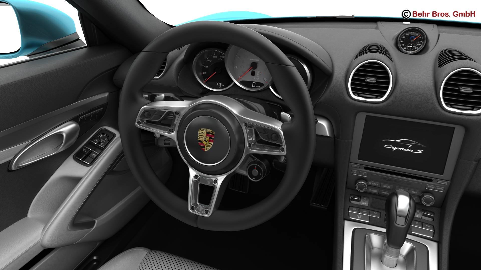 porsche 718 cayman s 2017 3d model 3ds max fbx c4d lwo ma mb obj 220116