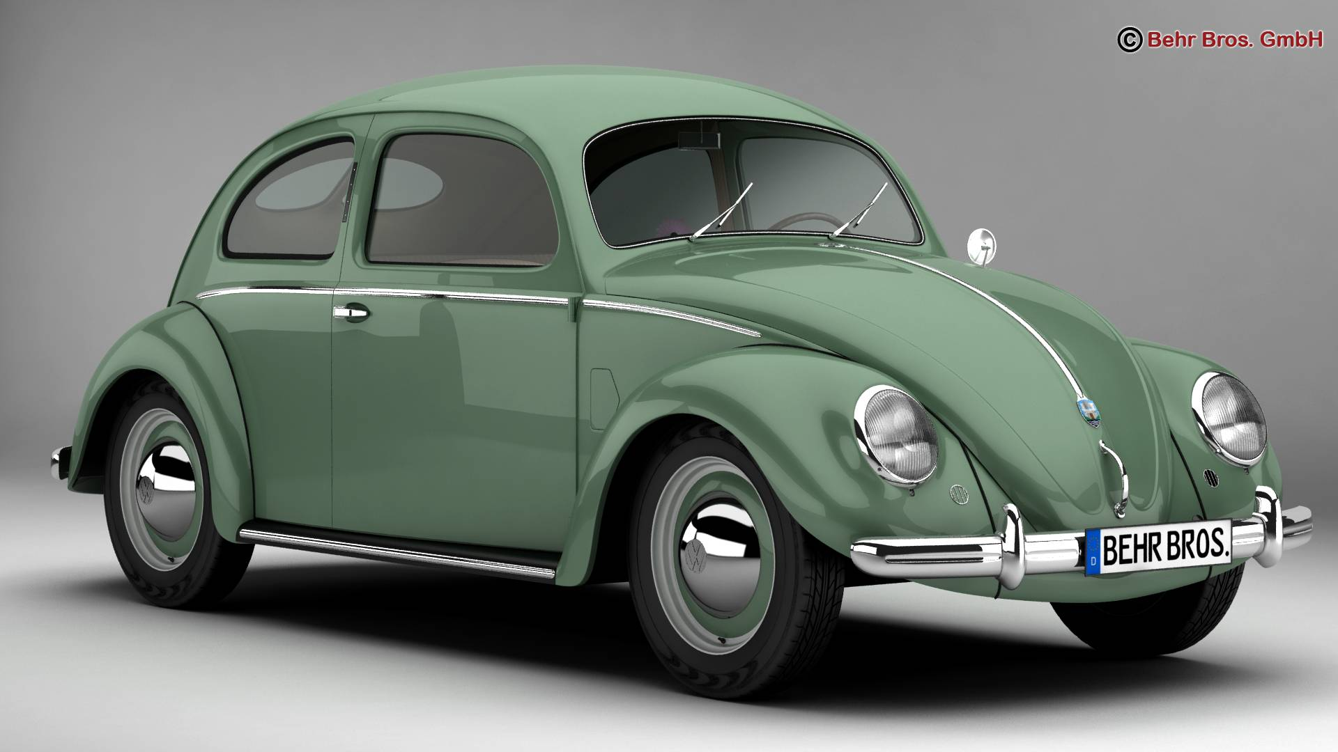 volkswagen beetle 1951 deluxe 3d model 3ds max fbx c4d lwo ma mb obj 220135