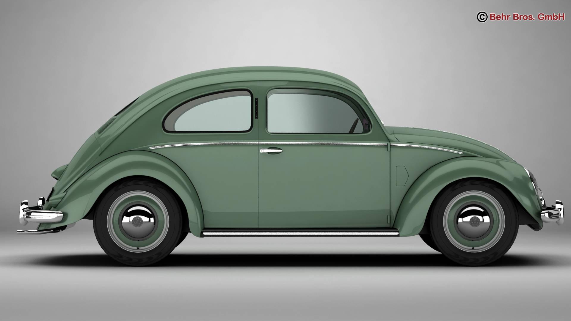 volkswagen beetle 1951 deluxe 3d model 3ds max fbx c4d lwo ma mb obj 220139