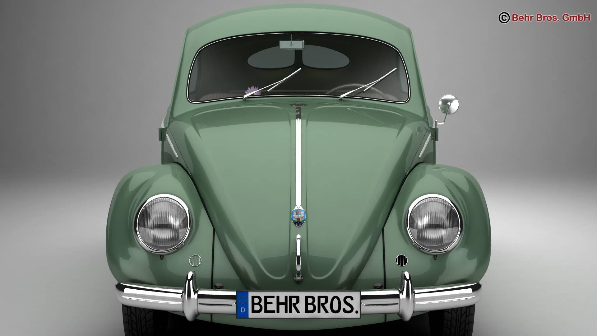 volkswagen beetle 1951 deluxe 3d model 3ds max fbx c4d lwo ma mb obj 220140