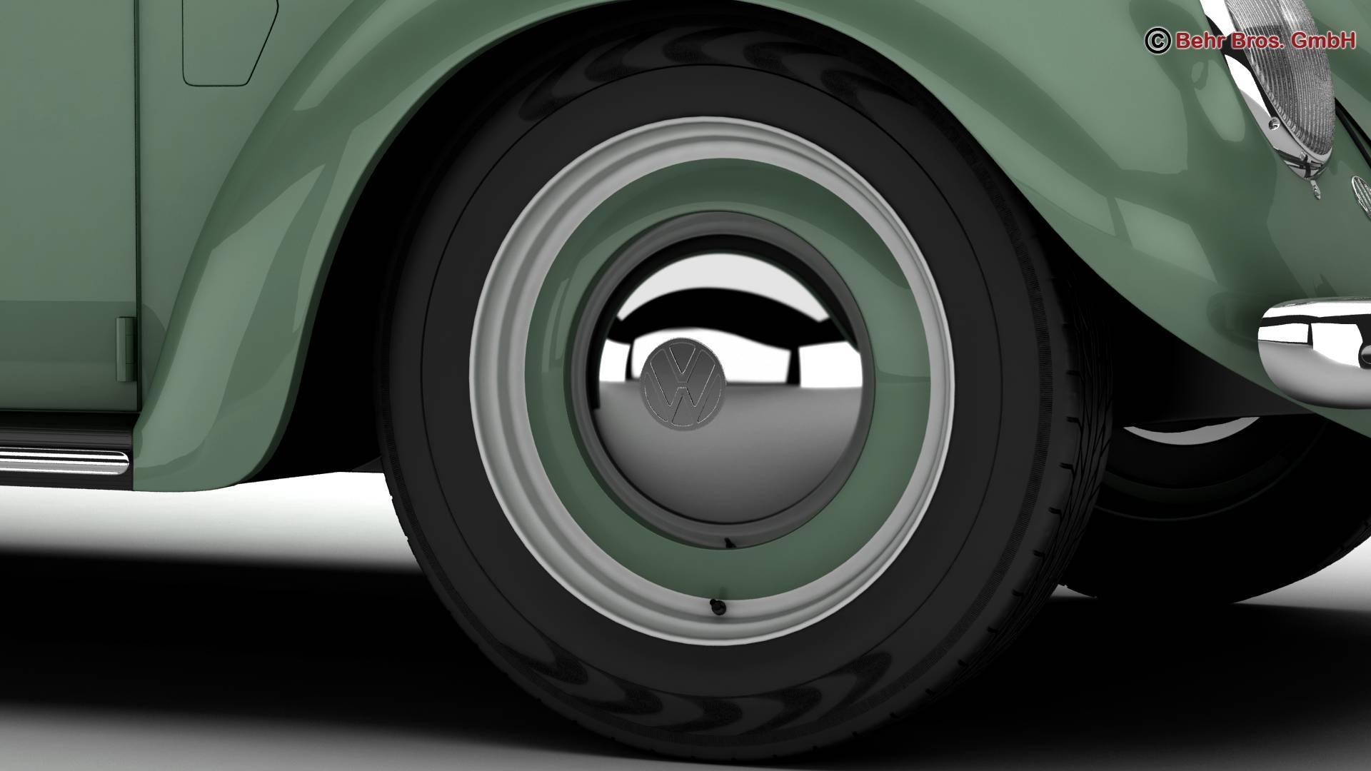 volkswagen beetle 1951 deluxe 3d model 3ds max fbx c4d lwo ma mb obj 220142