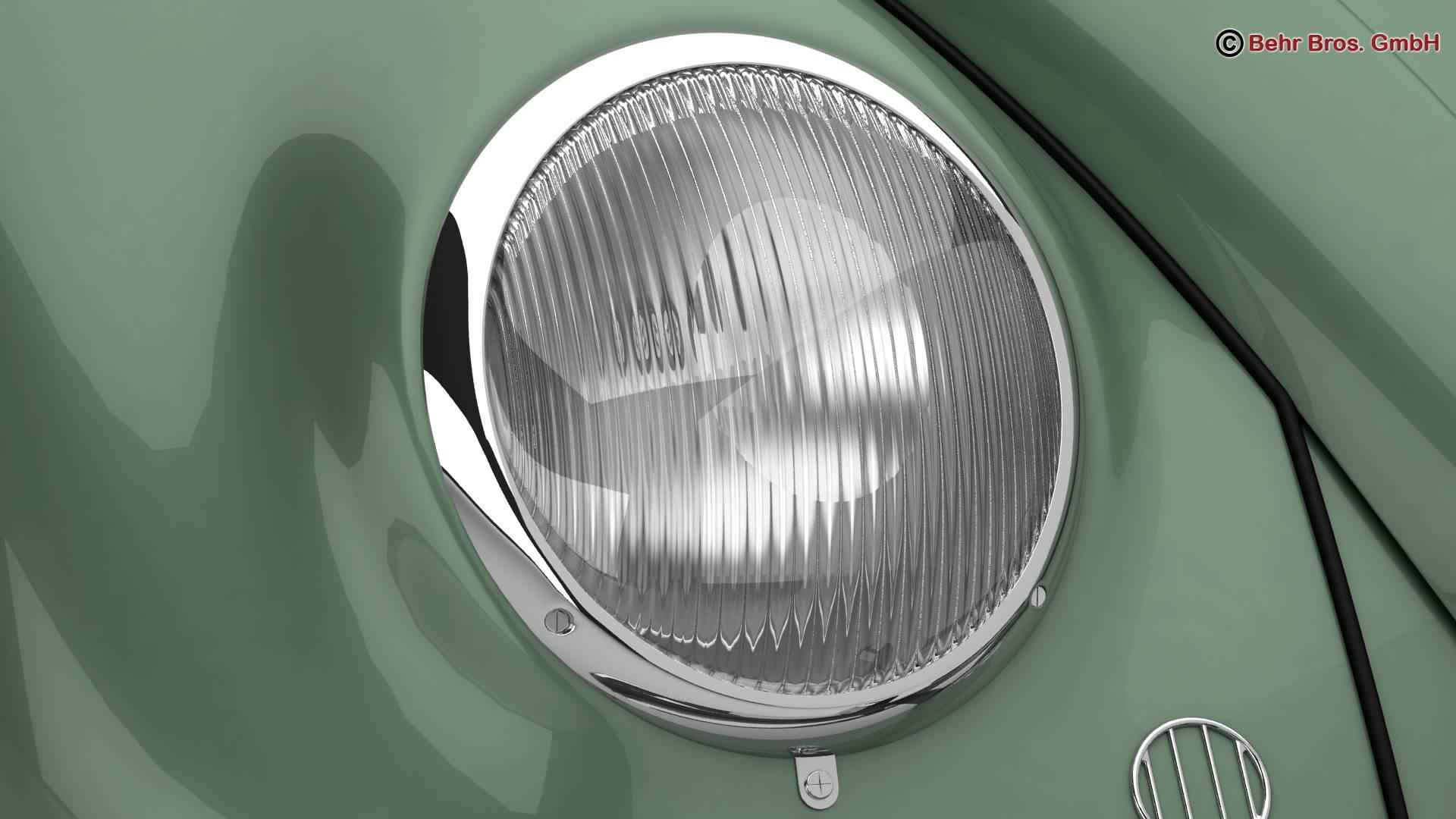 volkswagen beetle 1951 deluxe 3d model 3ds max fbx c4d lwo ma mb obj 220143
