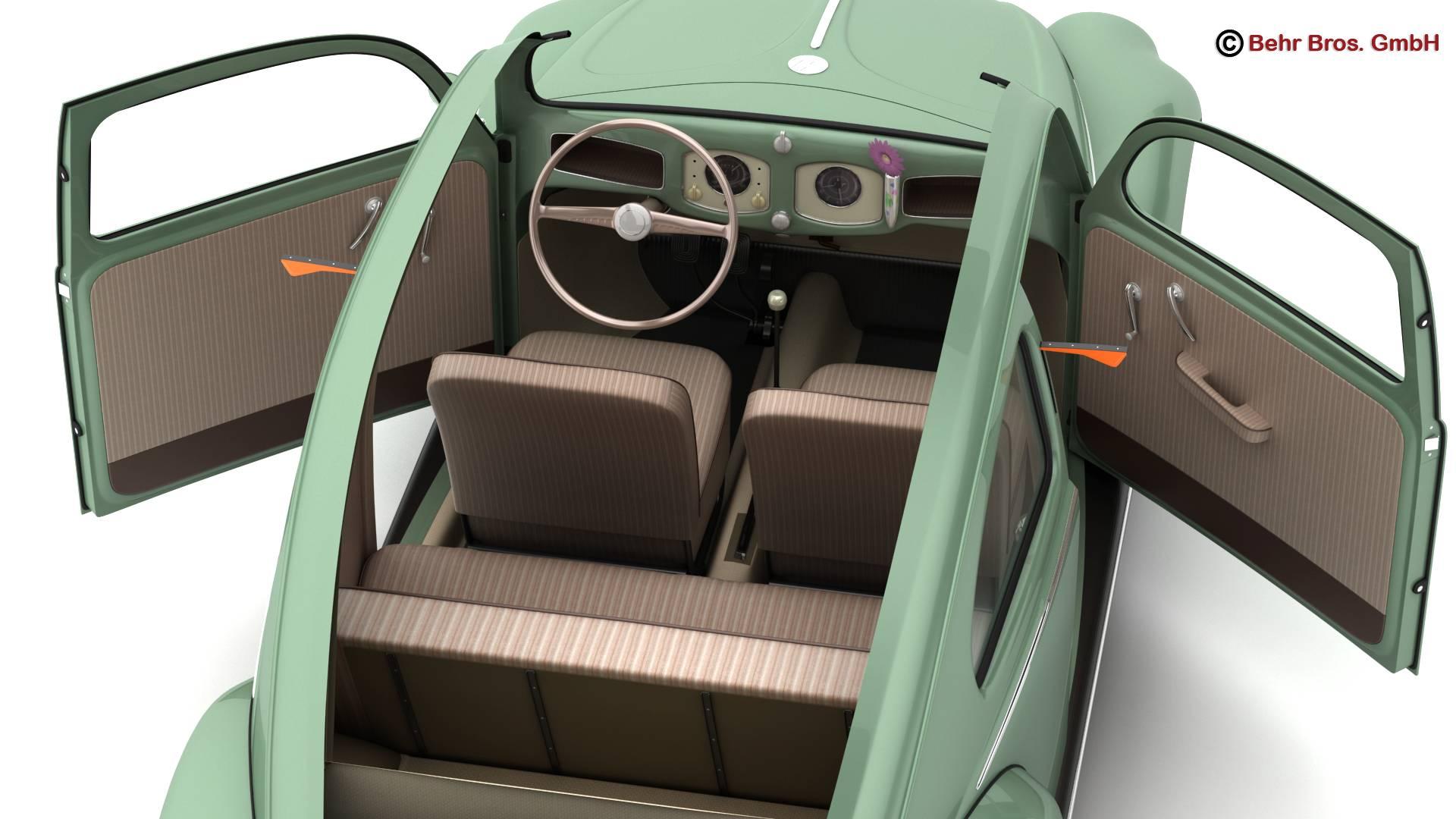volkswagen beetle 1951 deluxe 3d model 3ds max fbx c4d lwo ma mb obj 220146