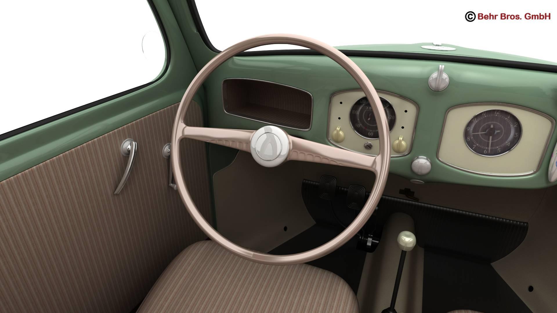 volkswagen beetle 1951 deluxe 3d model 3ds max fbx c4d lwo ma mb obj 220148