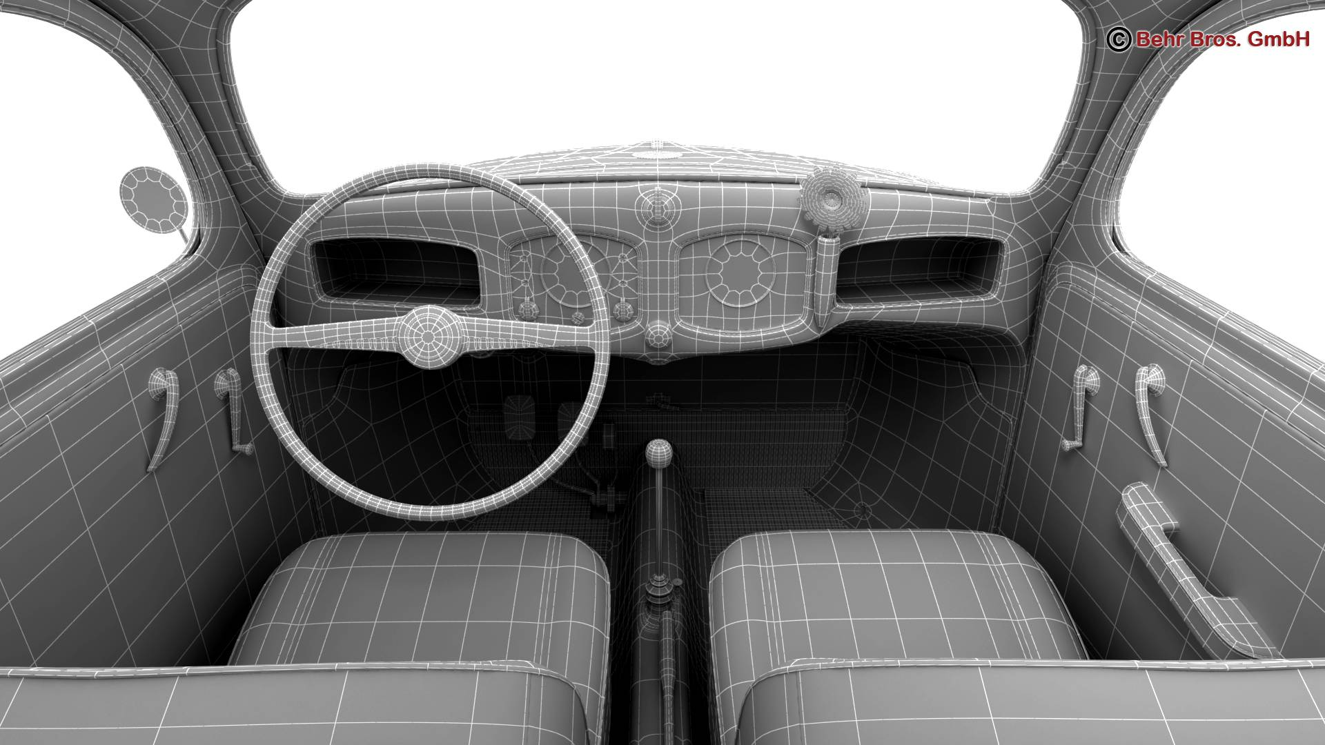 volkswagen beetle 1951 deluxe 3d model 3ds max fbx c4d lwo ma mb obj 220162