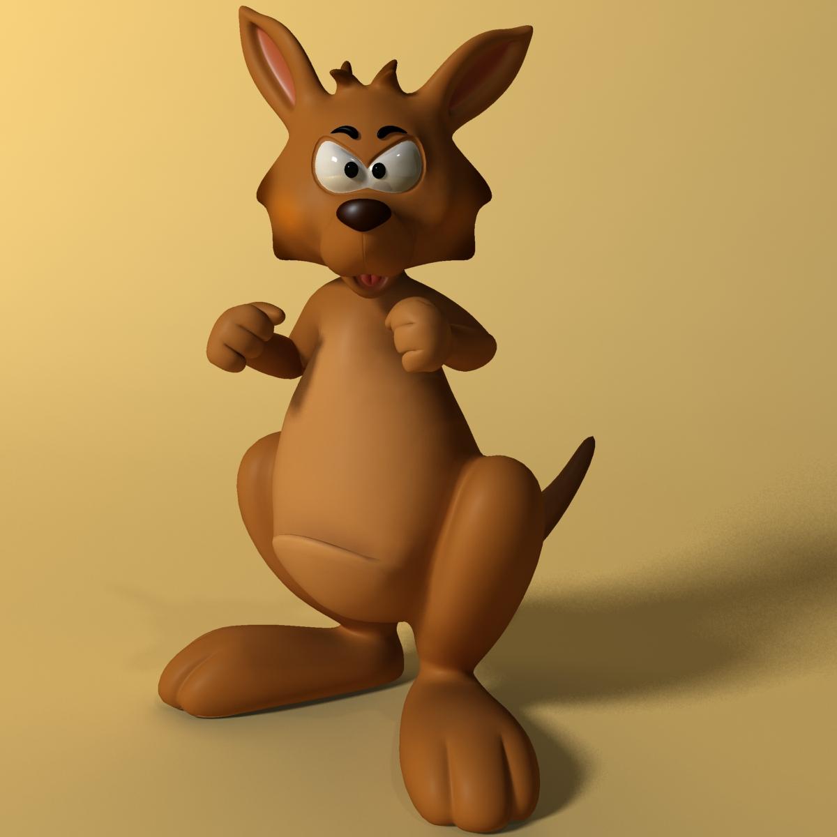 cartoon kangaroo rigged and animated 3d model max fbx  obj 220167