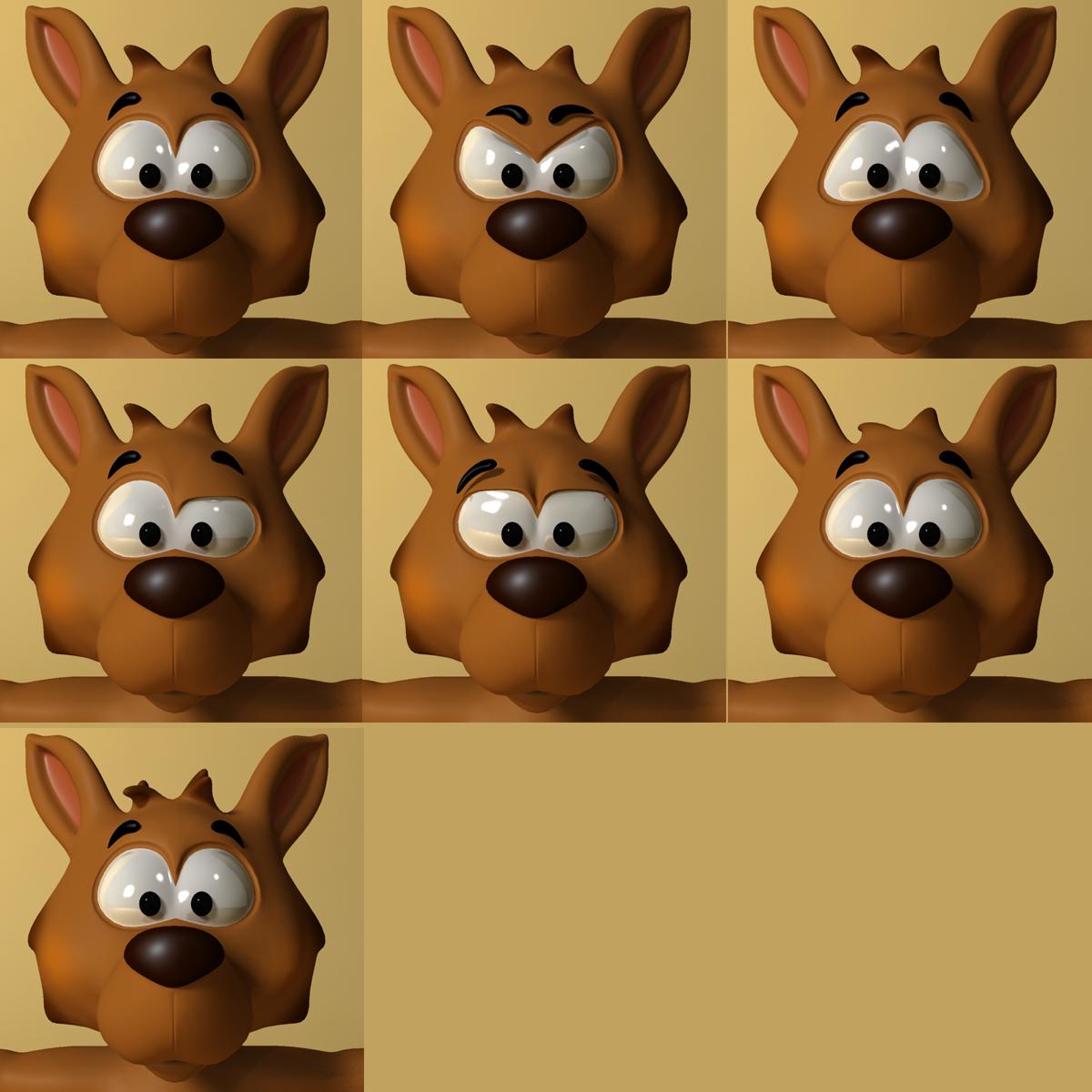 cartoon kangaroo rigged and animated 3d model max fbx  obj 220173
