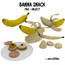 Banana Snack FBX OBJ  ( 881.32KB jpg by uncle808us )