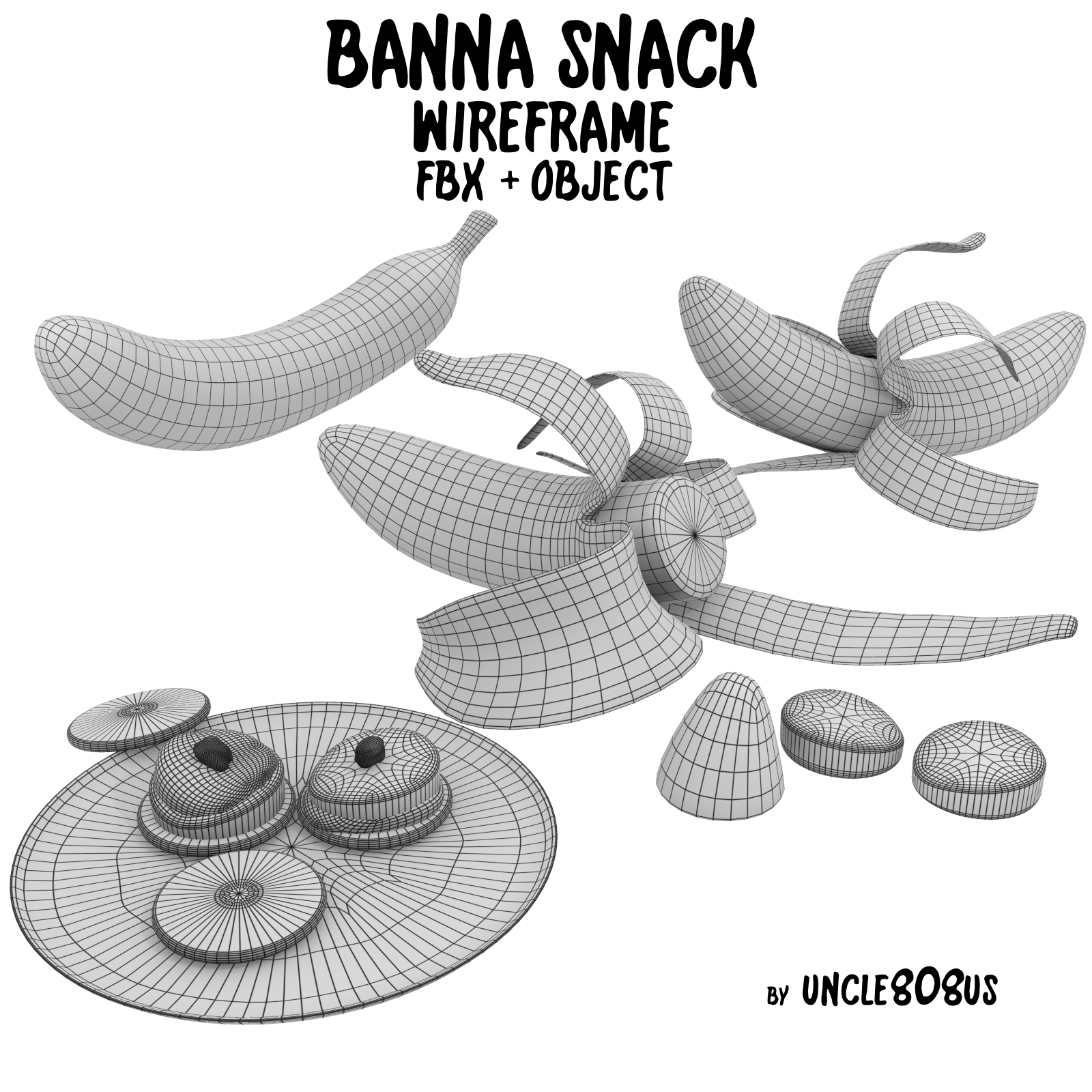 banana snack fbx obj 3d model fbx 220188