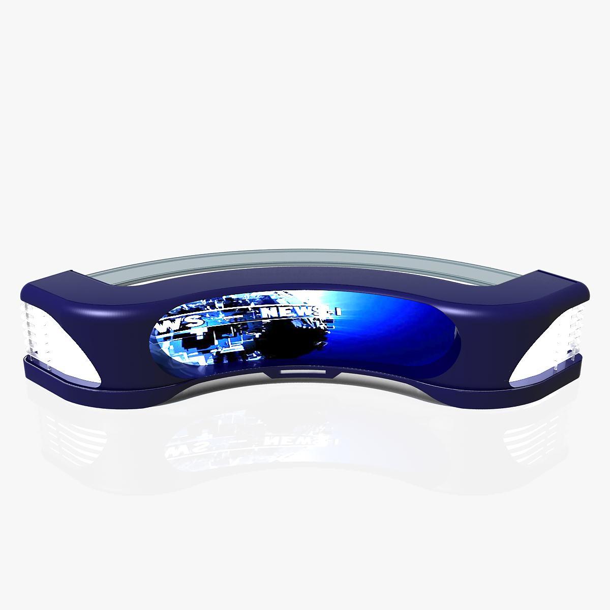 Virtual Tv Studio News Desk 11 3d model 3ds max dxf  obj 220192