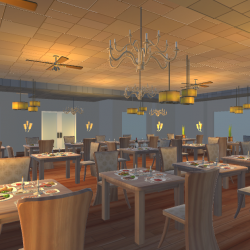Restaurant Dining Scene ( 929.75KB png by franky )