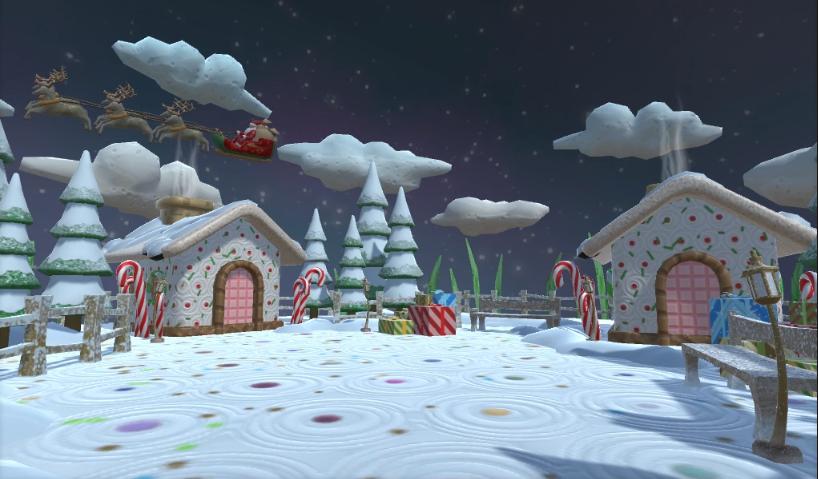 Christmas Scene 3d Model Flatpyramid