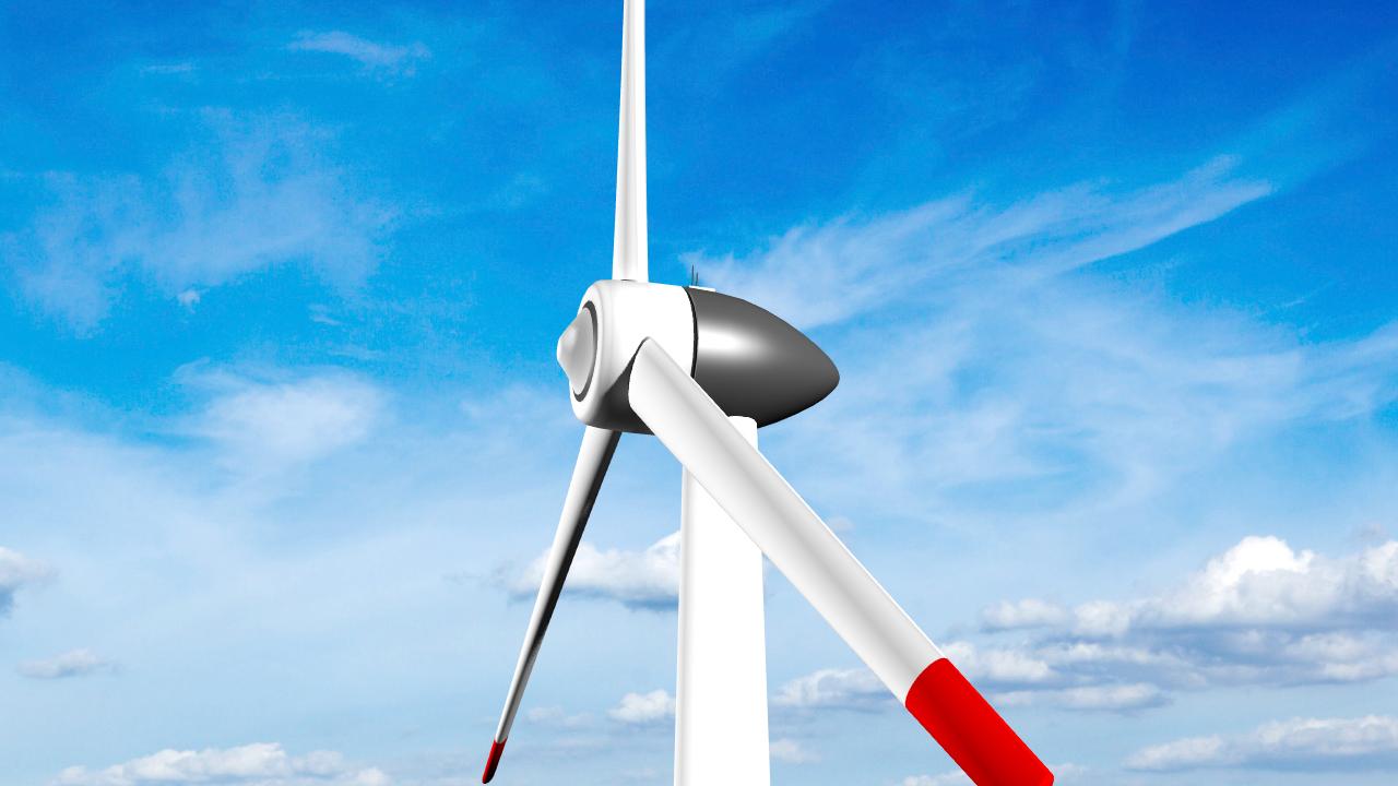 clean energy – eolic turbine 3d model 3ds fbx dae lwo  obj 220231