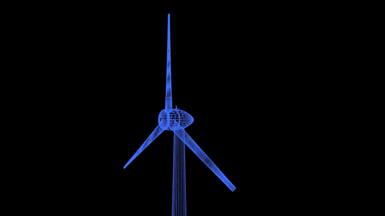 clean energy – eolic turbine 3d model 3ds fbx dae lwo  obj 220232