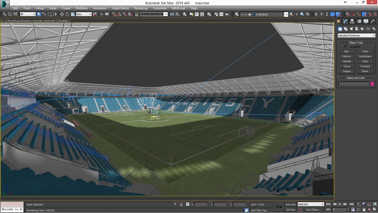 european soccer stadium 3d model 3ds max dxf dwg fbx c4d dae ma mb 3dm  obj 220266