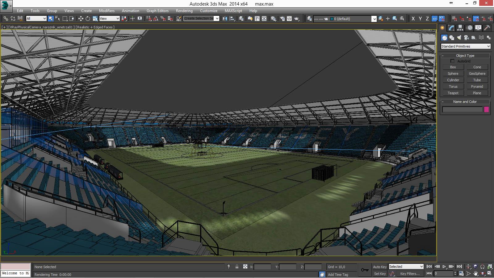 european soccer stadium 3d model 3ds max dxf dwg fbx c4d dae ma mb 3dm  obj 220267