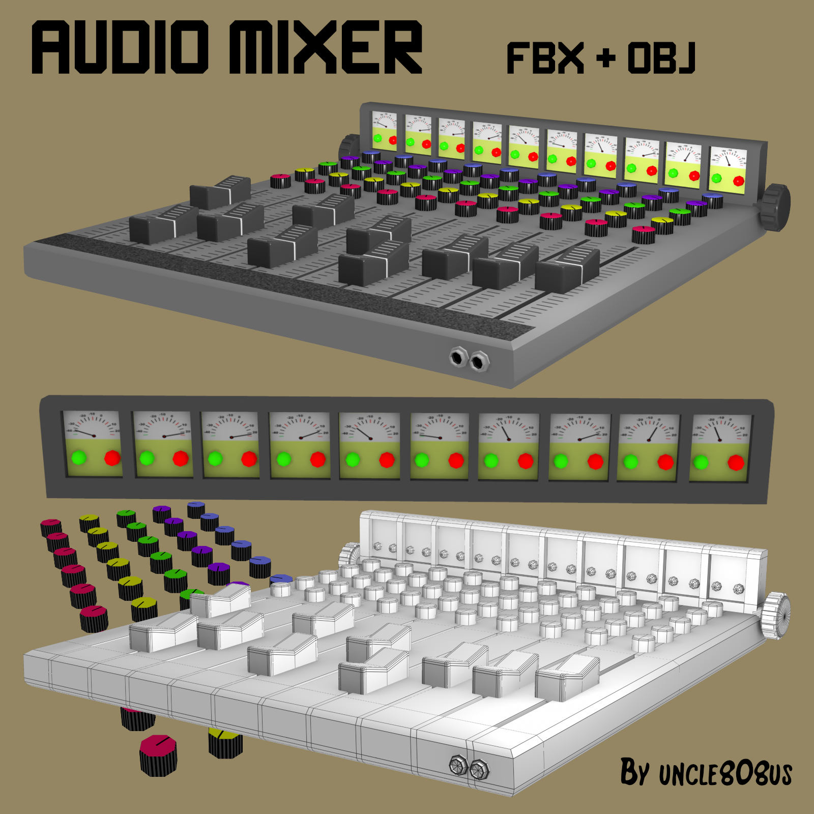 audio mixer fbx_obj 3d model fbx 220269