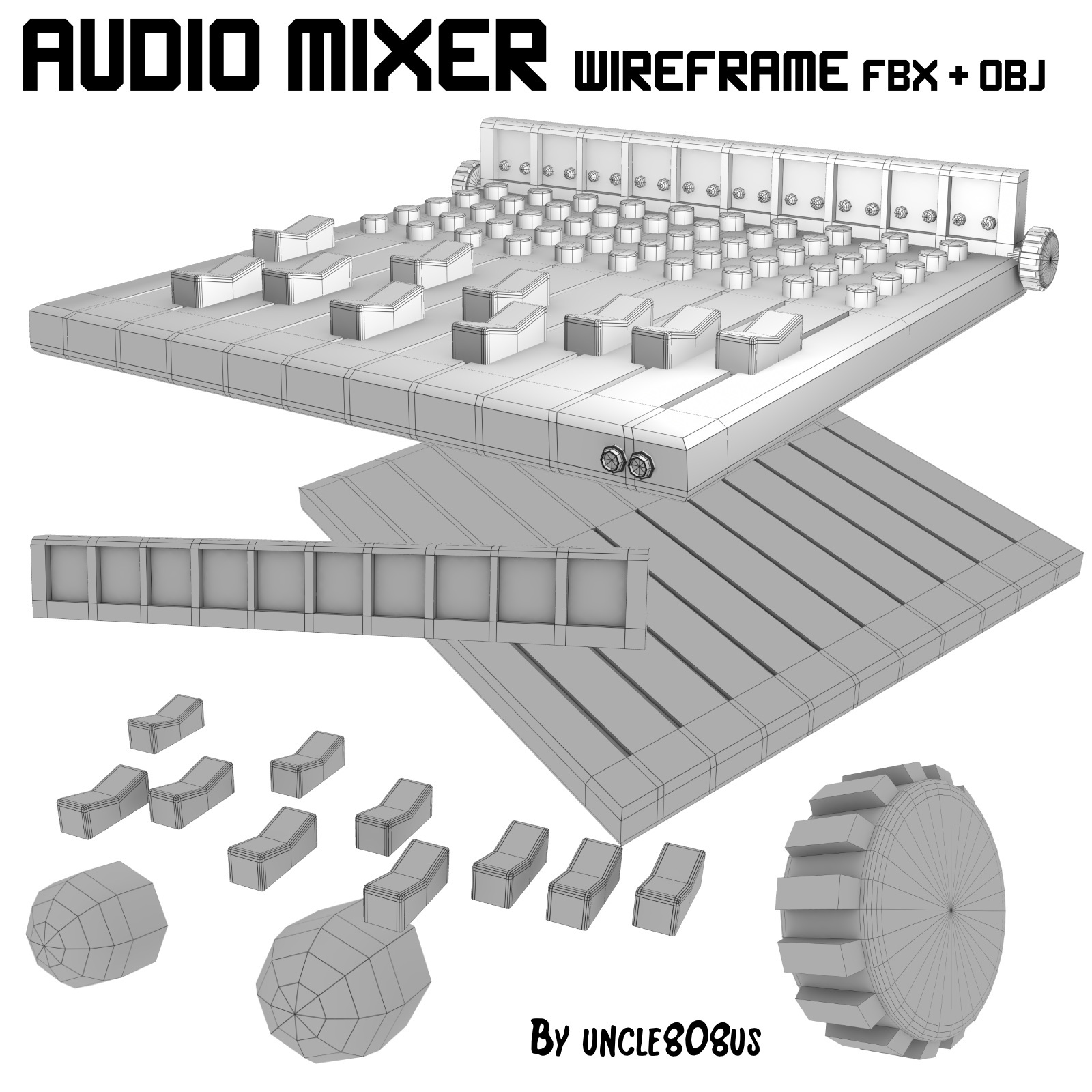 audio mixer fbx_obj 3d model fbx 220270