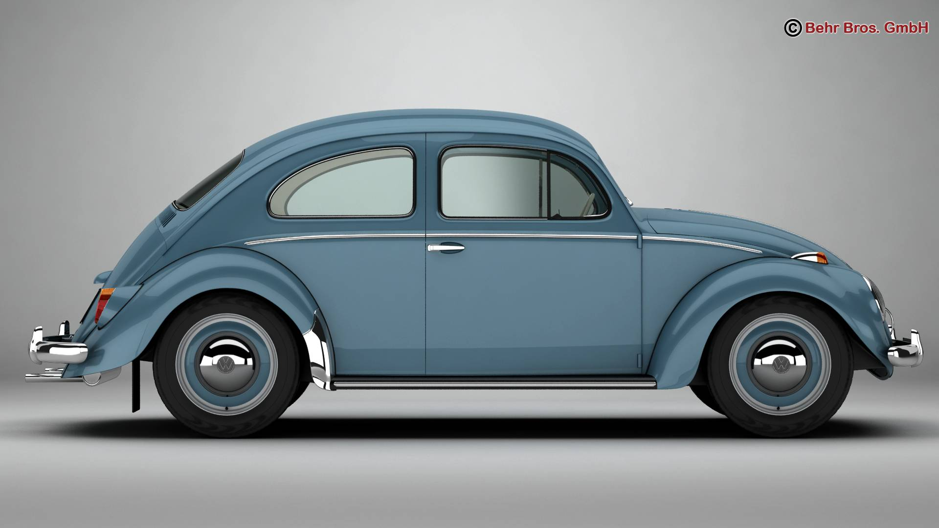 volkswagen beetle 1963 1200 deluxe 3d model 3ds max fbx c4d lwo ma mb obj 220277