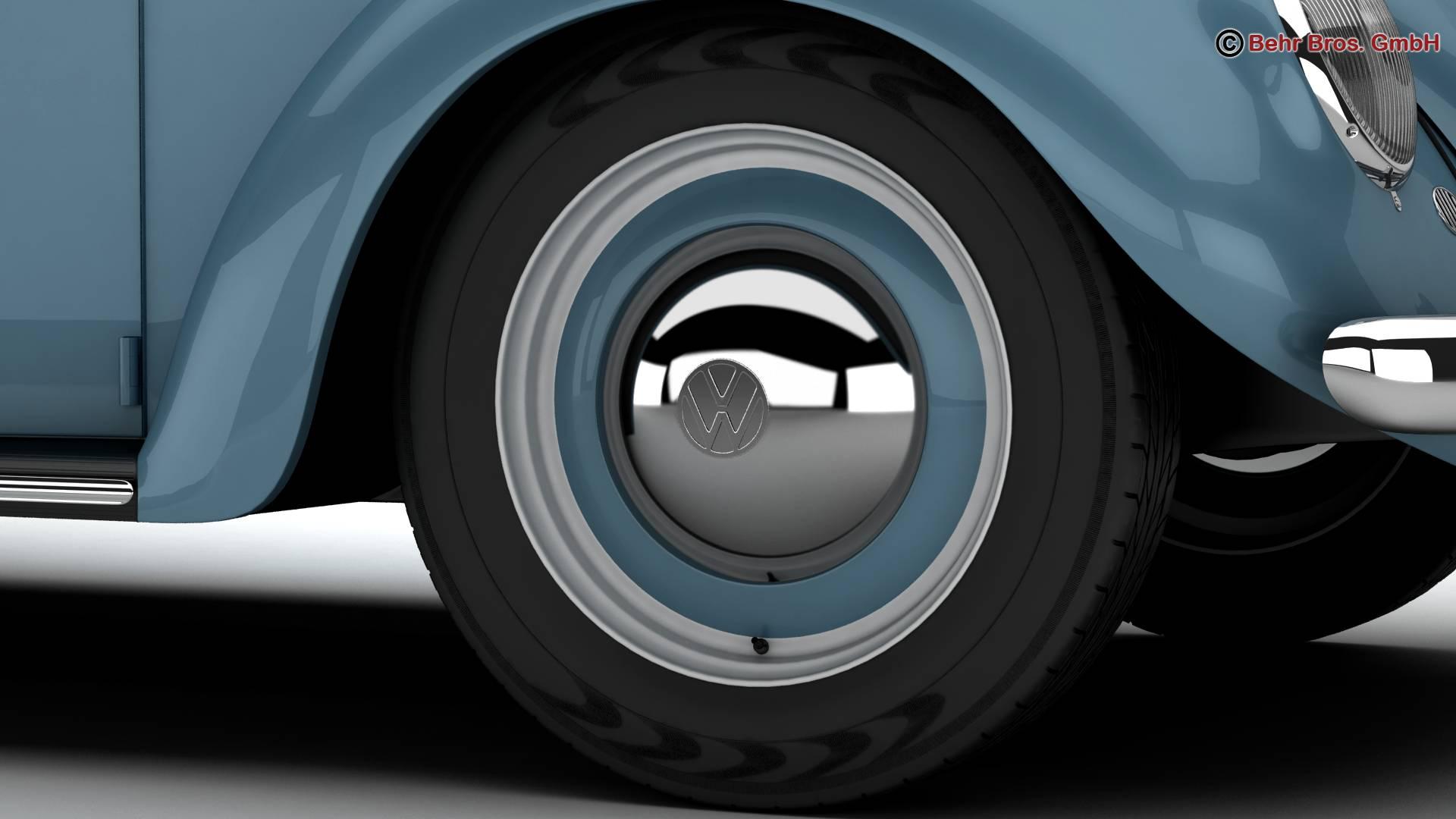 volkswagen beetle 1963 1200 deluxe 3d model 3ds max fbx c4d lwo ma mb obj 220280