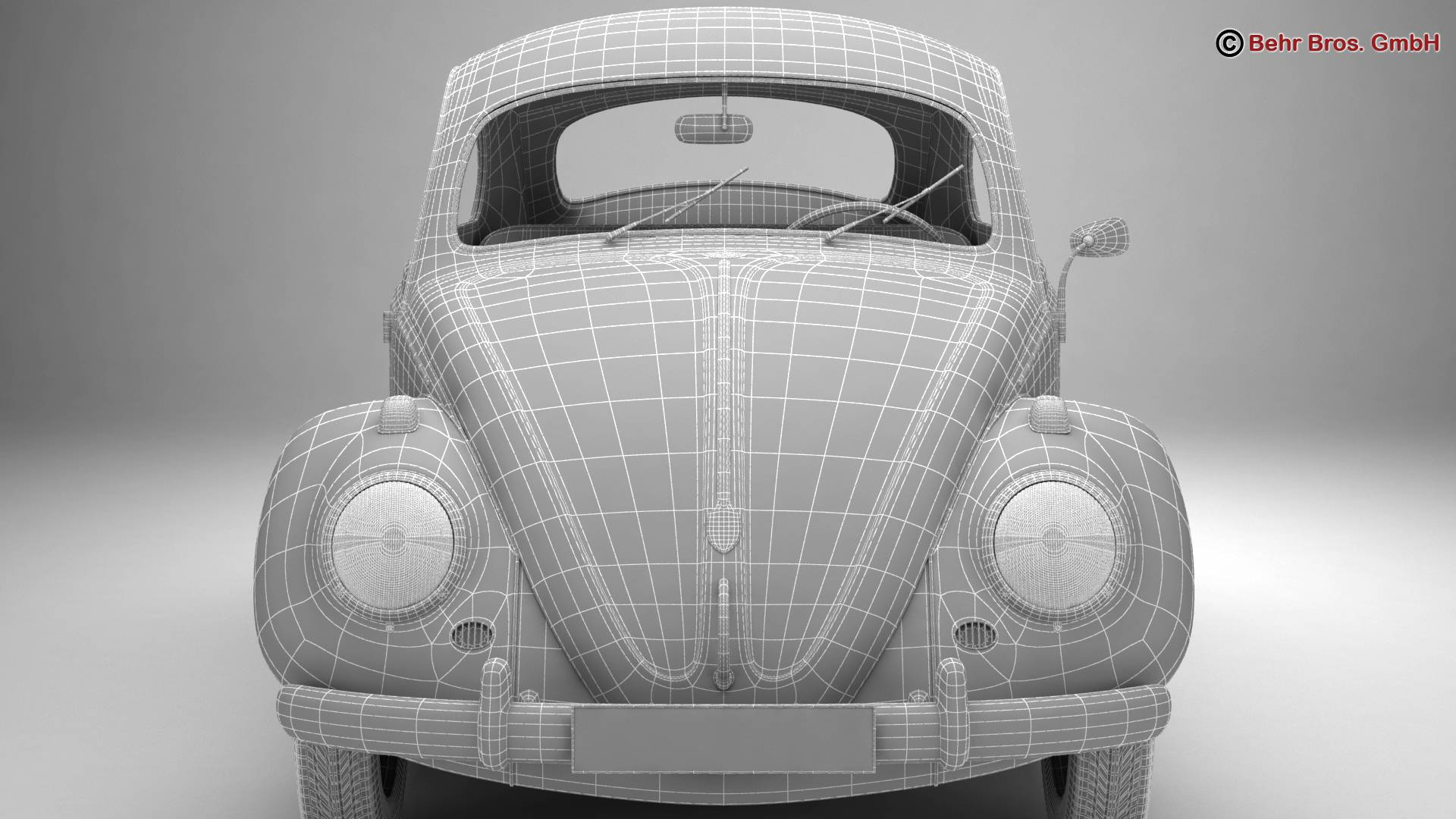 volkswagen beetle 1963 1200 deluxe 3d model 3ds max fbx c4d lwo ma mb obj 220293