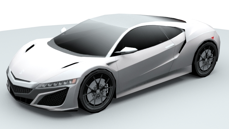 acura nsx lowpoly 3d modelis max fbx 220377