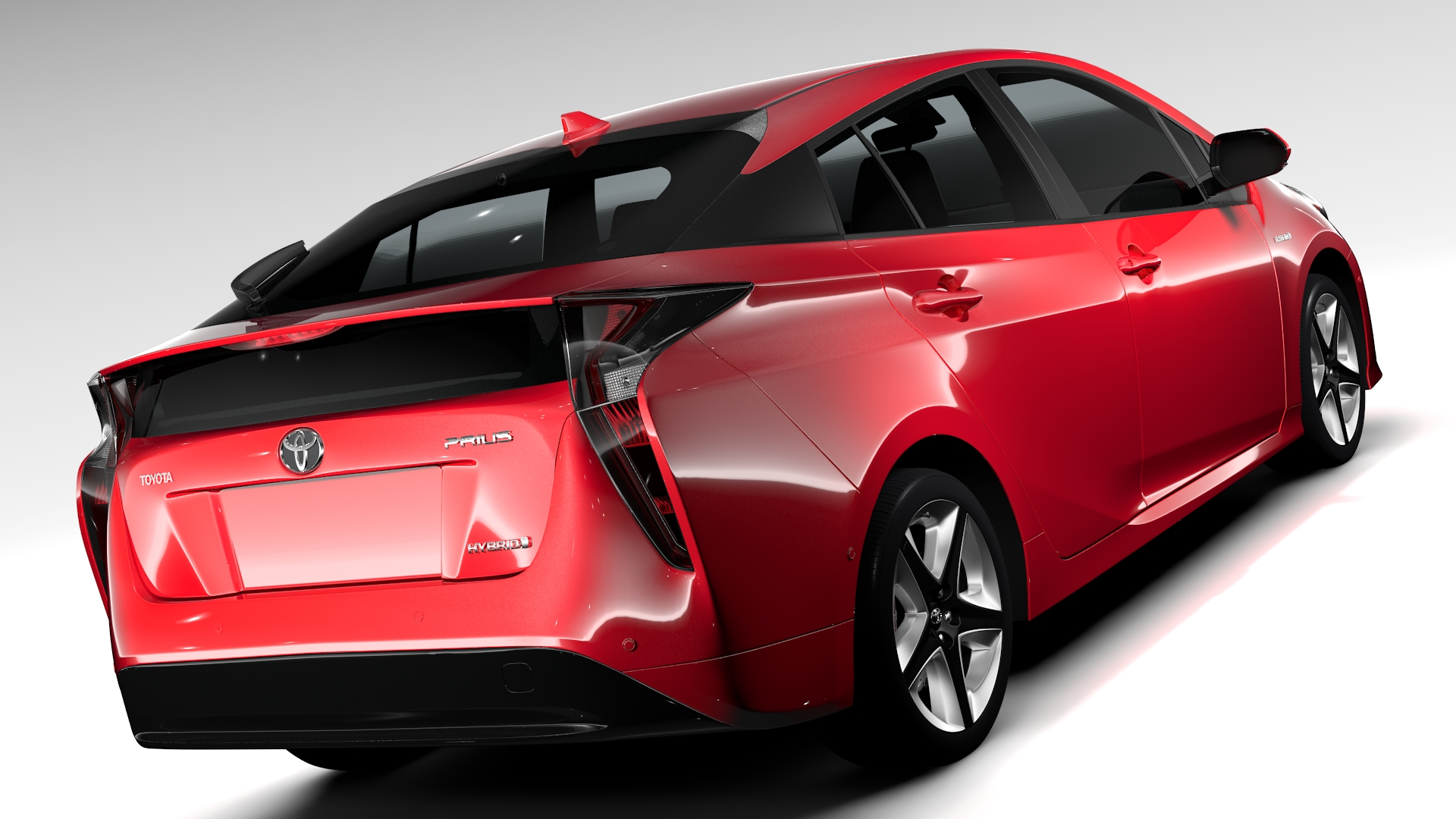 toyota prius 2016 3d model buy toyota prius 2016 3d model flatpyramid. Black Bedroom Furniture Sets. Home Design Ideas
